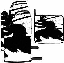 LAVYINGY La silhouette d'un samouraï sinistre