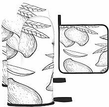 LAVYINGY Mango Sketch Lot de 3 maniques et