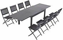 Laxllent Table de Jardin Extensible 135/270cm en