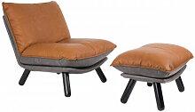 LAZY SACK - Fauteuil lounge de salon aspect cuir