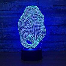 LBMTFFFFFF Lampe 3D Lampe Art Abstraction 7