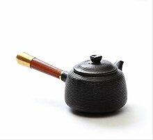 LBSST Théière en céramique Noire Bouilloire