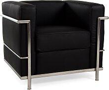LC2 fauteuil Le Corbusier - Noir