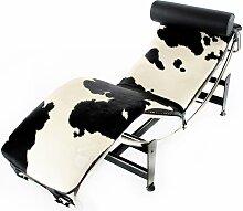 LC4 Chaise longue - Pony noir/blanc