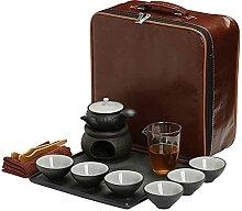LCTXDY Service à thé avec réchaud, théière et