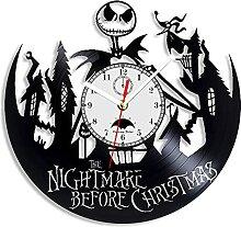 Le cauchemar avant Noël horloge murale en vinyle