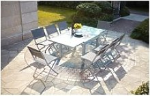 Le filomena : salon de jardin extensible table en
