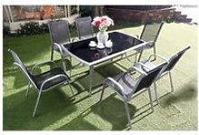 Le grenadin : salon de jardin table et 6 chaises