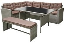 Le joy : salon de jardin résine gris et marron 8