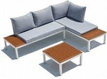 Le nice : salon de jardin aluminium et acier 4