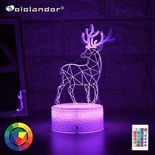 Le plus Jeune Enfant Lumière Nuit 3D LED
