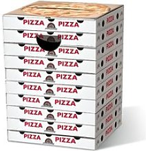 Le tabouret en carton Pizza Margherita - Blanc
