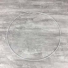 Lealoo Grand Cercle métallique Blanc diam. 45 cm