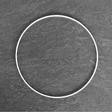 Lealoo Grand Cercle métallique Blanc diam. 55 cm