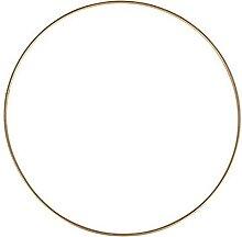 Lealoo Grand Cercle métallique doré Ancien,