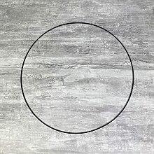 Lealoo Grand Cercle métallique Noir, diam. 60 cm