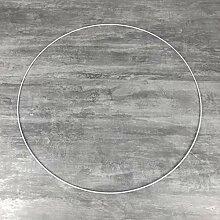 Lealoo Grand Cercle XXL métallique Blanc diam. 70