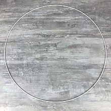 Lealoo Grand Cercle XXL métallique Blanc diam. 80