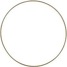 Lealoo Grand Cercle XXL métallique doré Ancien,