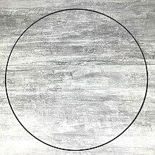 Lealoo Grand Cercle XXL métallique Noir, diam. 90