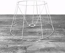 Lealoo Grande Carcasse Abat-Jour Tambour 50 cm,