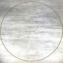 Lealoo Très Grand Cercle XXL métallique Doré