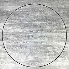 Lealoo Très Grand Cercle XXL métallique Noir,