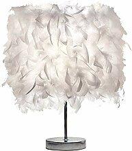 LEAMER Feather Lampe de Chevet Elégant Plume