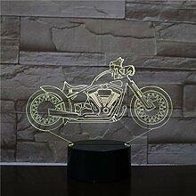 Led 3D Veilleuse Moto 3D Lampe De Table 3D
