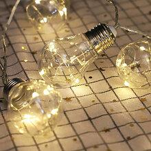 LED ampoule transparente guirlande lumineuse