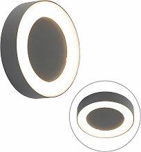 LED Applique murale et plafonnier gris rond IP54 -