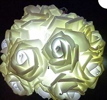 LED blanche positive rose solaire guirlande