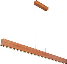 LED bois design plafonnier suspension salon salle