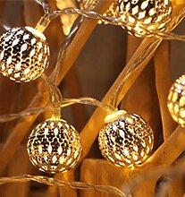 LED boule marocaine guirlande lumineuse fer forgé