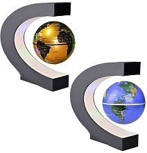 LED carte du monde lévitation magnétique