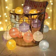 LED Coton Boule Guirlande Lumineuse Extérieure