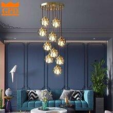 LED Escalier Lustre pour salon Cuisine Loft Fils