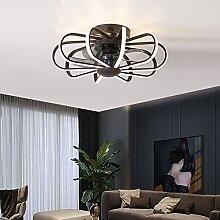 LED Fan Plafonnier Dimmable Ventilateur Plafond