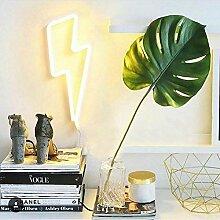 LED forme de foudre enseigne au néon lumière art