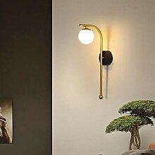 LED Glass Ball Wall Lamp 1 Head Golden Luster