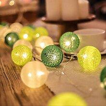 LED guirlande boules de coton chaîne lumière