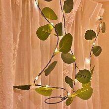 LED Guirlandes Vert Feuille Guirlande Lumineuse