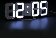 LED Horloge Digital Murale Silencieuse Grand 3D