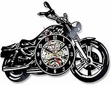 LED Horloge en Caoutchouc Noir Moto Record Horloge