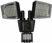 LED Lampe Solaire Extérieur 2 Têtes Projecteur