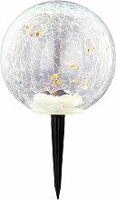 LED lampe solaire plug-in boule spotlight crackle
