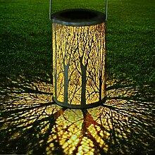 LED Lanterne Solaire, Lampe Suspendue Extérieure