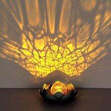 LED Lumière Solaire Boule En Verre Craquelé