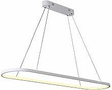 LED Lustre mené moderne noir/blanc pour la lampe