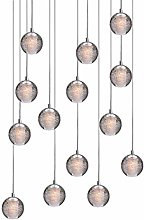 LED moderne Lampe suspension K9 boule de cristal